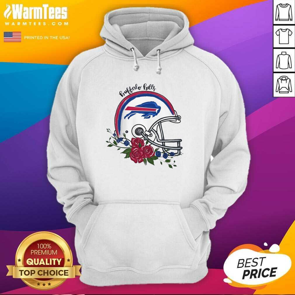 Buffalo Bills Floral Hoodie  - Design By Warmtees.com