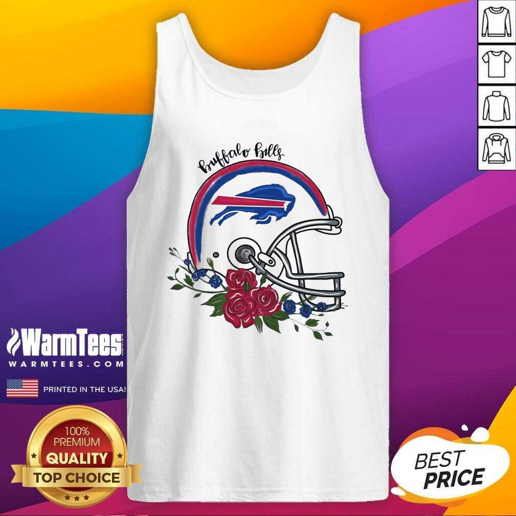 Buffalo Bills Floral Tank Top  - Design By Warmtees.com