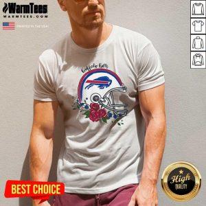 Buffalo Bills Floral V-neck - Design By Warmtees.com