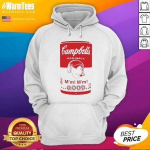 Campbell's Football Soup Can Hoodie - Design By Warmtees.com