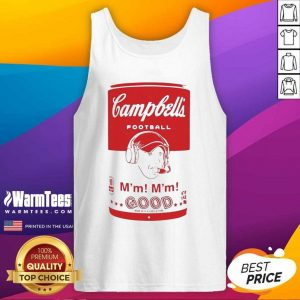 Campbell's Football Soup Can Tank Top - Design By Warmtees.com