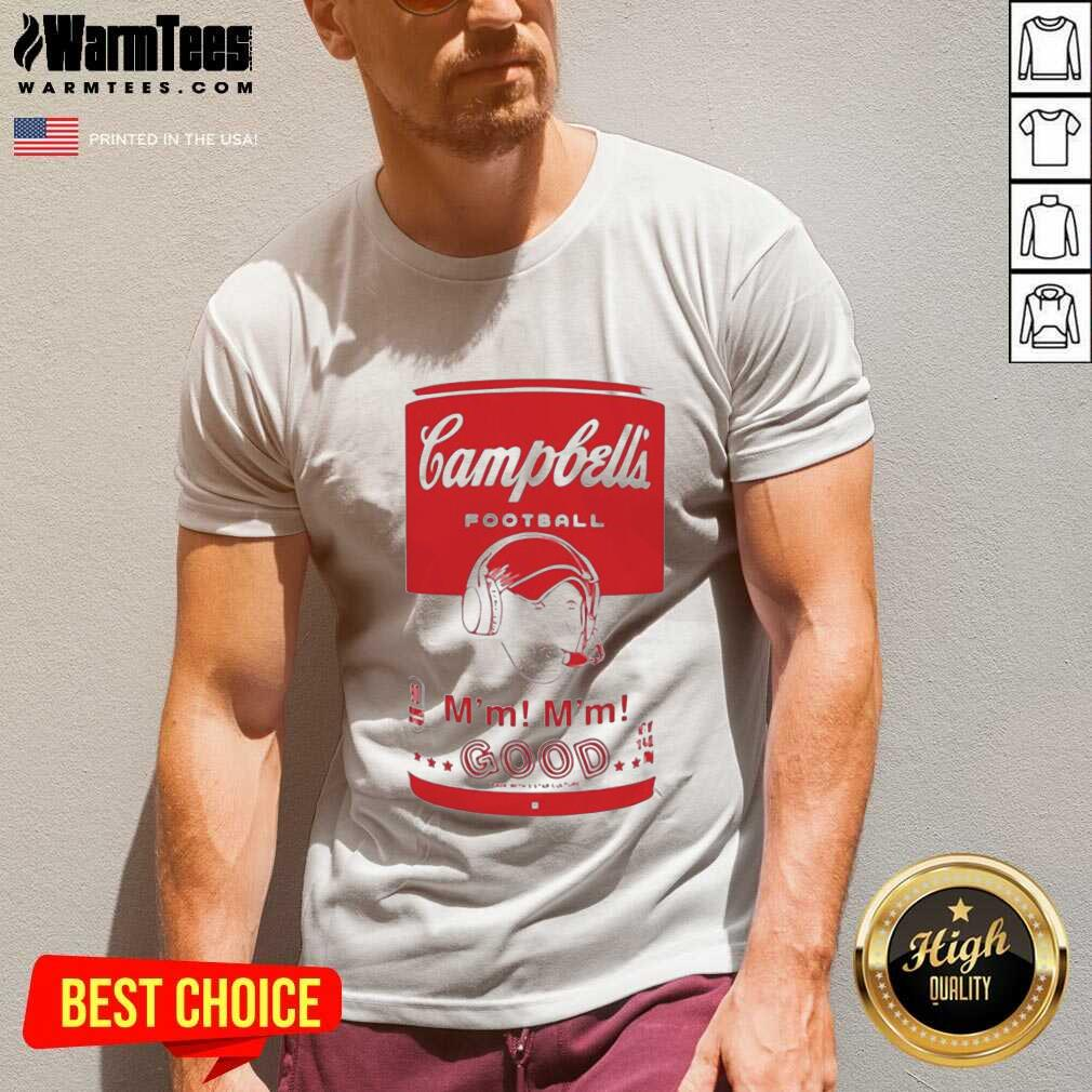 Campbell's Football Soup Can V-neck  - Design By Warmtees.com