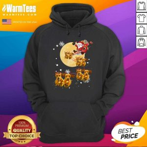 Christmas Reindeer Dachshund Dog Hoodie - Design By Warmtees.com