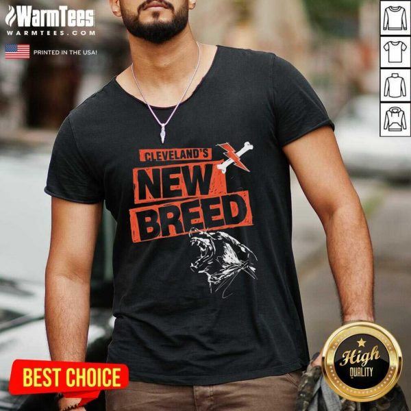 Cleveland Football New Breed V-neck - Design By Warmtees.com
