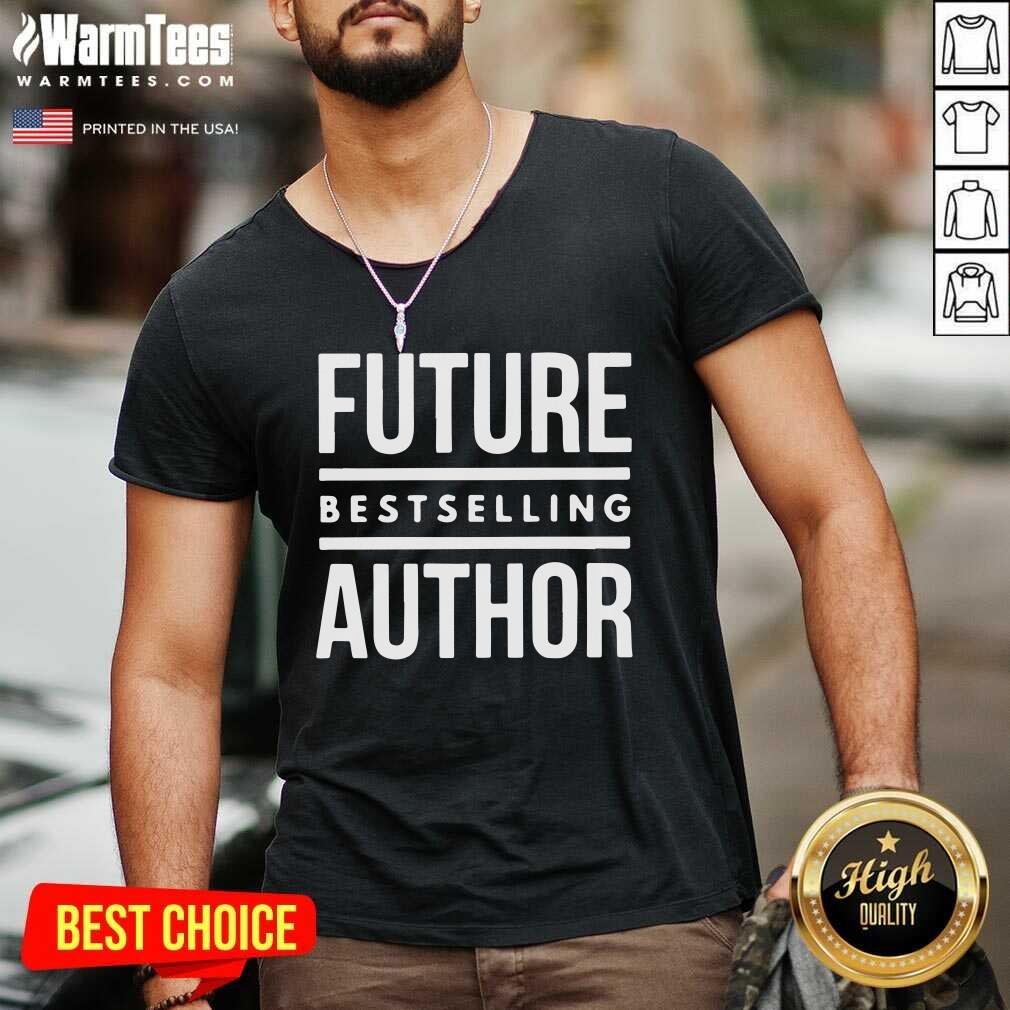 Future Best Selling Author V-neck  - Design By Warmtees.com