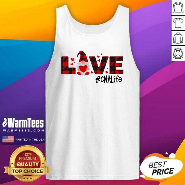 Gnome Love Valentine #CNA Life Tank Top - Design By Warmtees.com