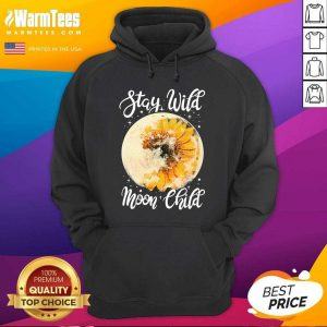 Hippie Sunflower Stay Wild Moon Child Hoodie - Design By Warmtees.com