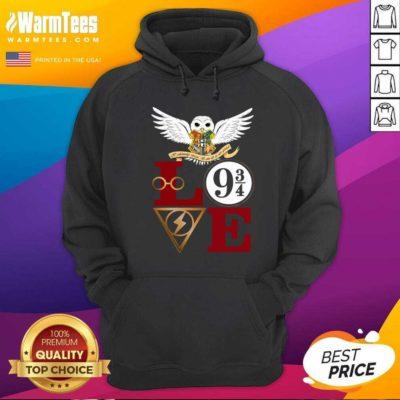 Hogwarts Love 9 34 Hoodie - Design By Warmtees.com