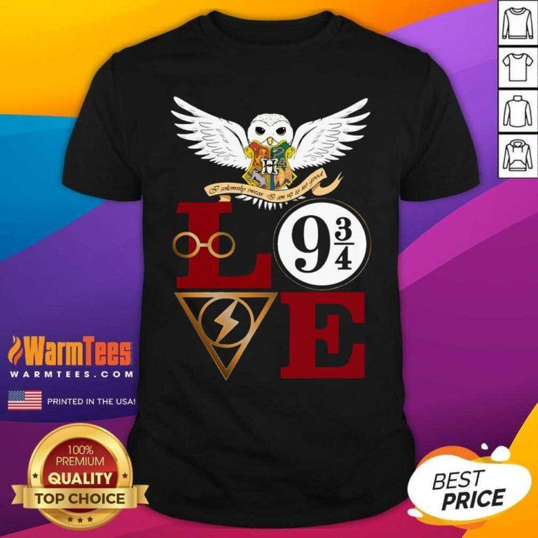 Hogwarts Love 9 34 Shirt - Design By Warmtees.com