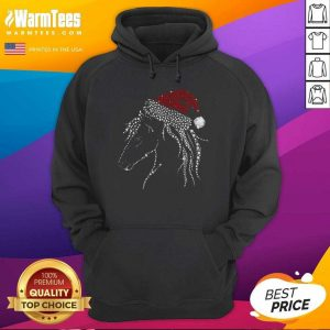Horse Diamond With Santa Hat Gift Christmas Pajama Xmas Idea Hoodie - Design By Warmtees.com