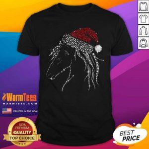 Horse Diamond With Santa Hat Gift Christmas Pajama Xmas Idea Shirt - Design By Warmtees.com