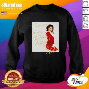 Mariah Carey To Supreme Merry Christmas Baby SweatShirt - Design By Warmtees.com