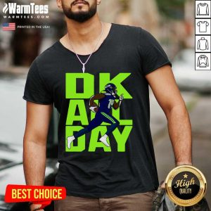 Ok All Day Rugby Ball V-neck - Design By Warmtees.com