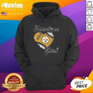 Pittsburgh Steelers Girl Heart Diamond Hoodie - Design By Warmtees.com
