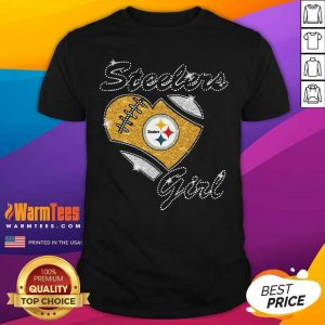 Pittsburgh Steelers Girl Heart Diamond Shirt - Design By Warmtees.com