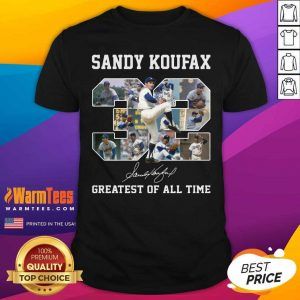 Sandy Koufax 32 Greatest Of All Time Signature Shirt - Design By Warmtees.com
