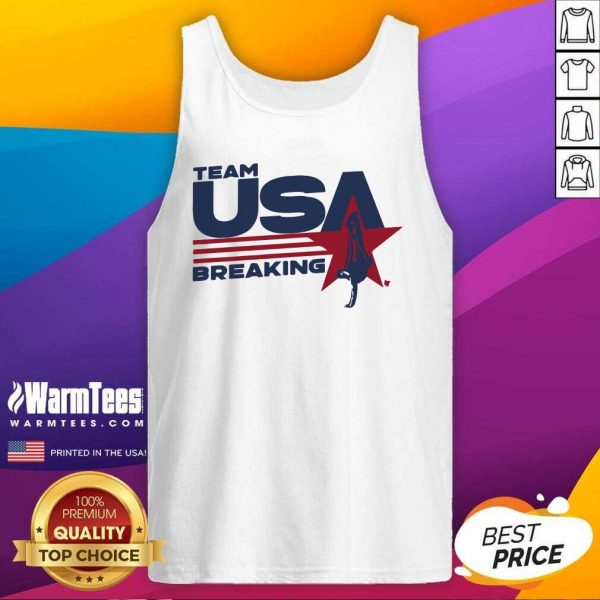 Team USA Breaking Star Tank Top - Design By Warmtees.com