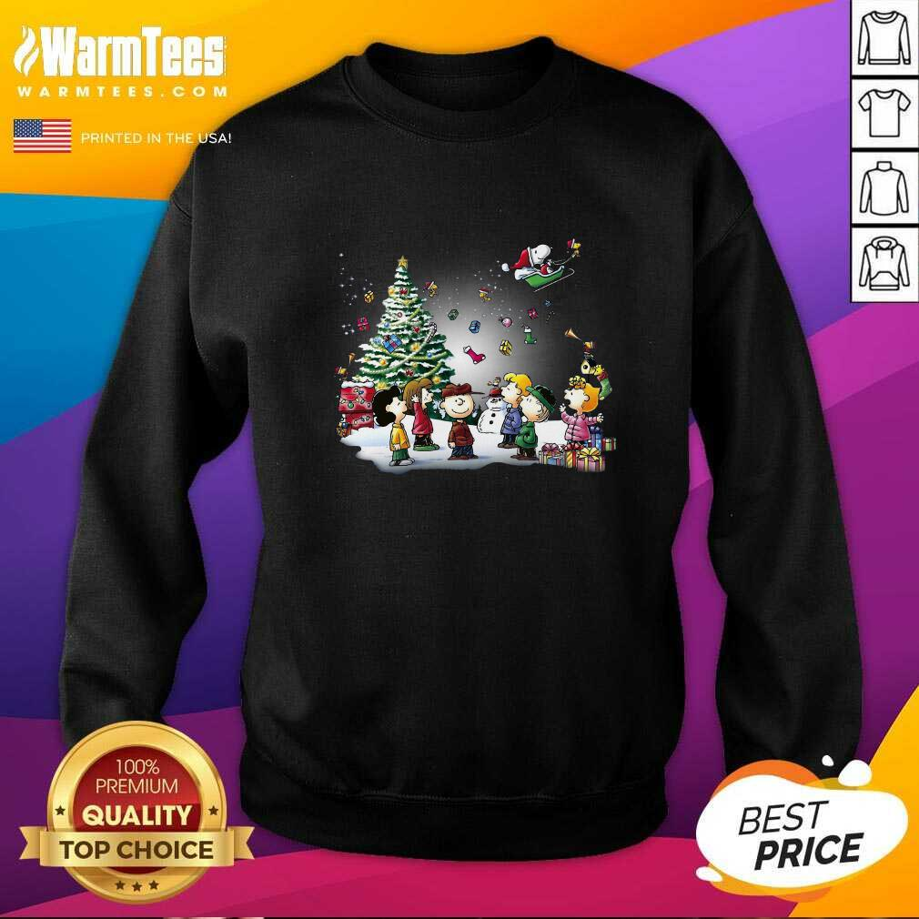 The Peanuts Character Merry Christmas SweatShirt - Design By Warmtees.com