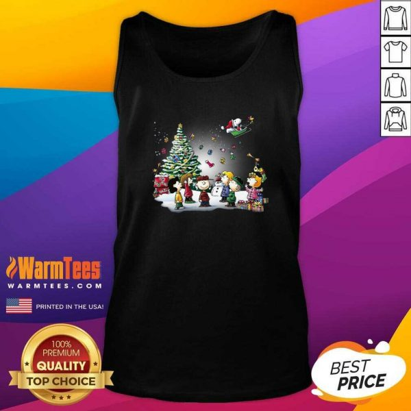The Peanuts Character Merry Christmas Tank Top - Design By Warmtees.com