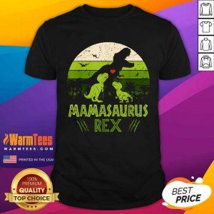 Vintage Retro 3 Kids Mamasaurus Dinosaur Vintage Shirt - Design By Warmtees.com