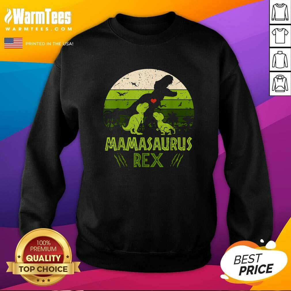 Vintage Retro 3 Kids Mamasaurus Dinosaur Vintage SweatShirt  - Design By Warmtees.com