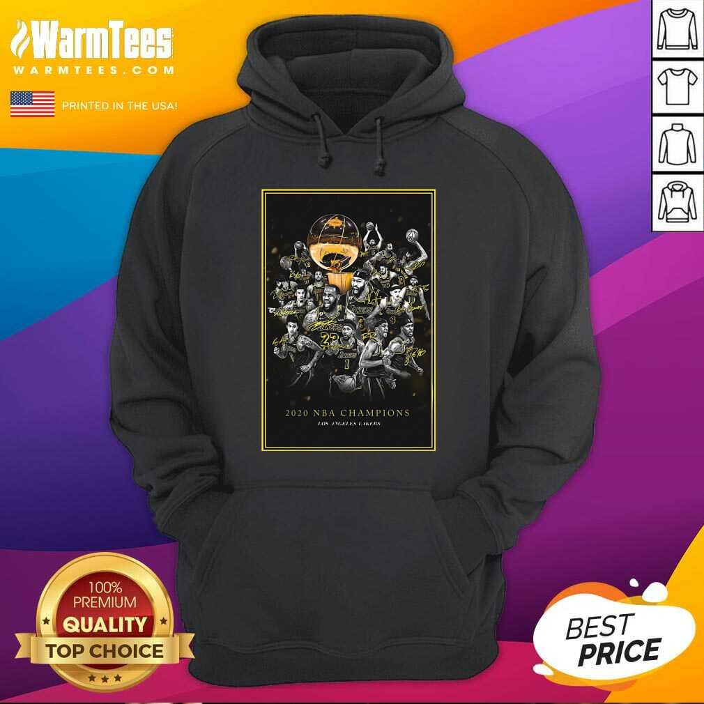 2020 Nba Champions Los Angeles Lakers Team Signatures Hoodie  - Design By Warmtees.com