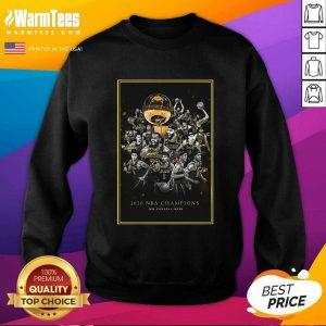2020 Nba Champions Los Angeles Lakers Team Signatures SweatShirt - Design By Warmtees.com