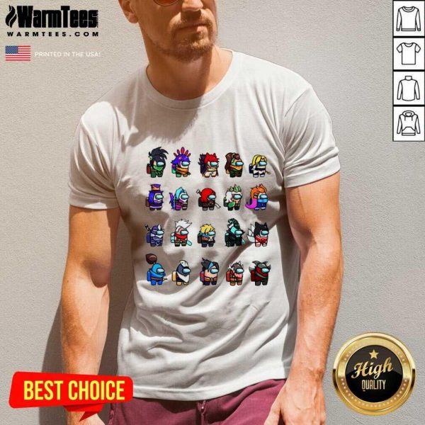 Among Us X League Of Legends Games V-neck - Design By Warmtees.com