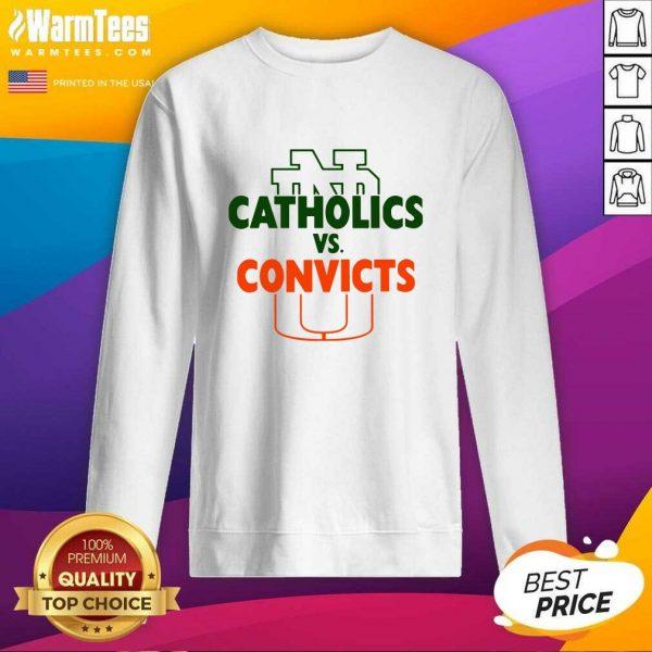 Catholics Vs Convicts 2021 SweatShirt - Design By Warmtees.com