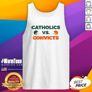 Catholics Vs Convicts Football Tank Top - Design By Warmtees.com