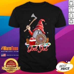Gnome Viking Glaedelig Jul Christmas Shirt - Design By Warmtees.com