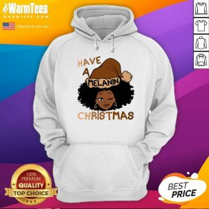Have A Melanin Christmas Charming Woman Black Hair Hoodie - Design By Warmtees.com