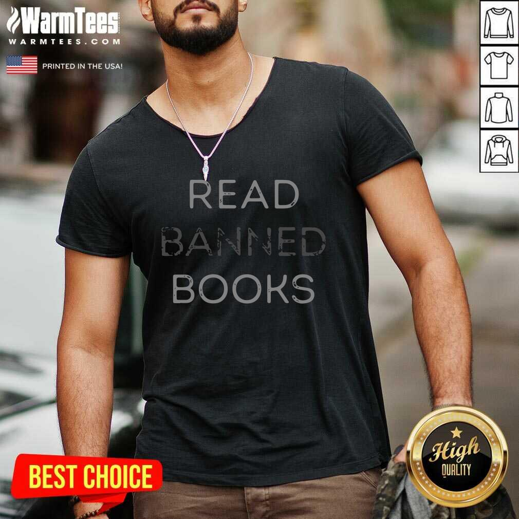 Read Banned Books V-neck  - Design By Warmtees.com