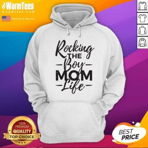 Rocking The Boy Mom Life Hoodie - Design By Warmtees.com