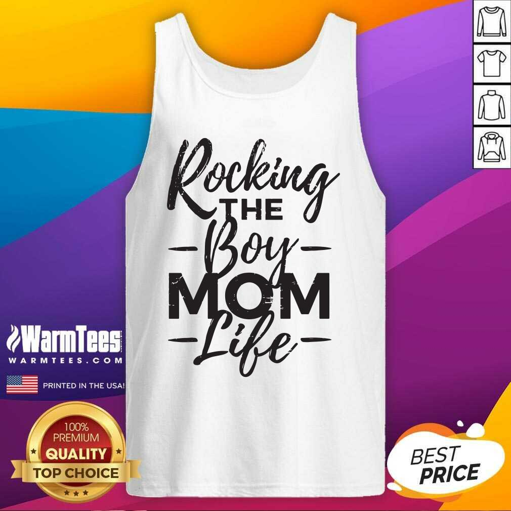 Rocking The Boy Mom Life Tank Top  - Design By Warmtees.com