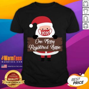 Santa Claus Face Mask 2020 One Merry Rad Tech Christmas Shirt - Design By Warmtees.com