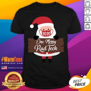 Santa Claus Face Mask 2020 One Merry Registered Nurse Christmas Shirt - Design By Warmtees.com