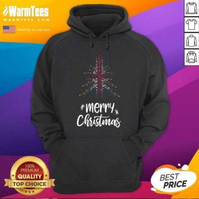 Tree England Flag Merry Christmas Hoodie - Design By Warmtees.com