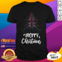 Tree England Flag Merry Christmas Shirt - Design By Warmtees.com