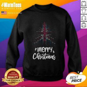 Tree England Flag Merry Christmas SweatShirt - Design By Warmtees.com