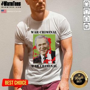 War Criminal George Bush V-neck - Design By Warmtees.com