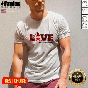 Gnome Love Valentine #Healthcare Worker V-neck - Design By Warmtees.com