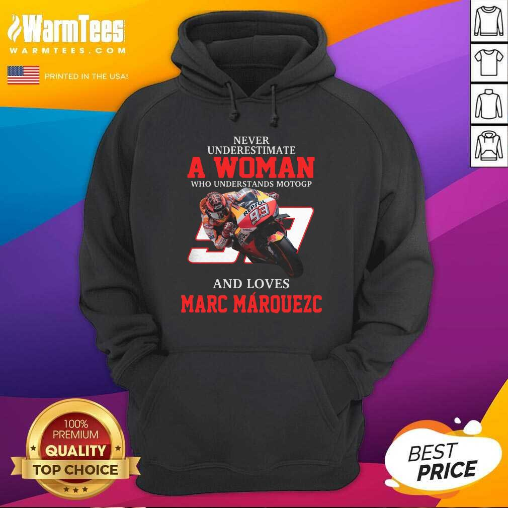 Never Underestimate A Woman Who Understands Motogp And Love Marc Marquez Hoodie  - Design By Warmtees.com