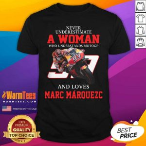 Never Underestimate A Woman Who Understands Motogp And Love Marc Marquez Shirt - Design By Warmtees.com