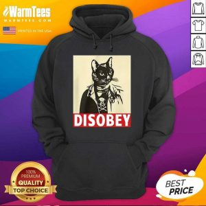 Radical Cat Disobey Hoodie - Design By Warmtees.com
