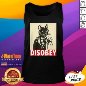 Radical Cat Disobey Tank Top - Design By Warmtees.com