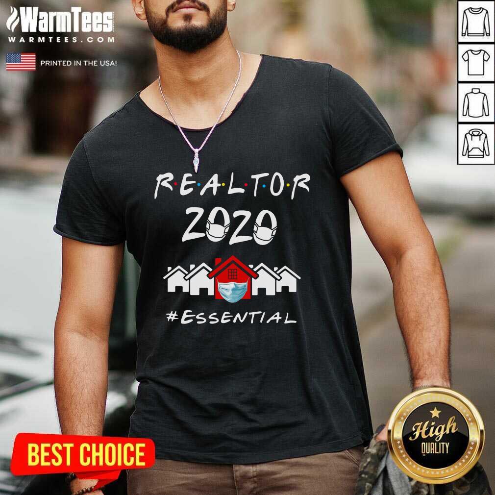 Realtor 2020 Essential V-neck  - Design By Warmtees.com