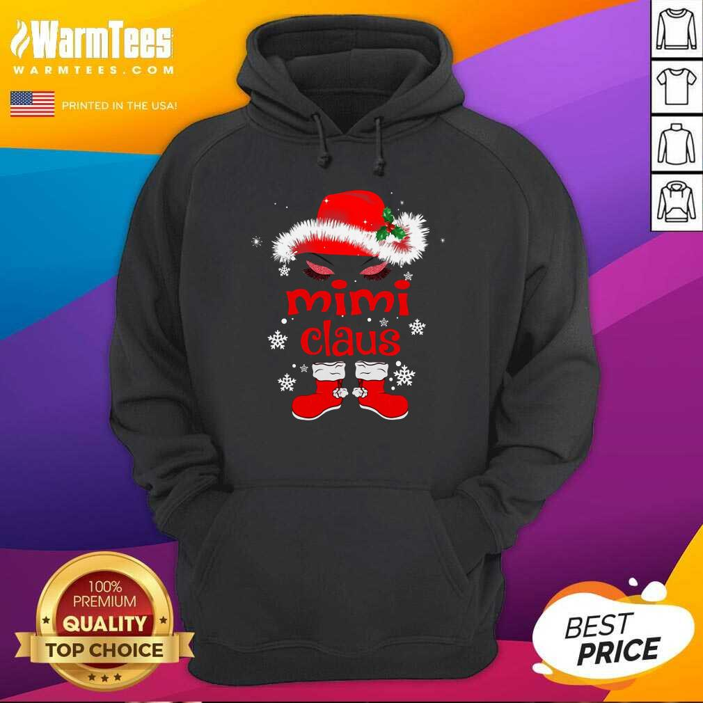 Santa Women Mimi Claus Christmas Hoodie  - Design By Warmtees.com