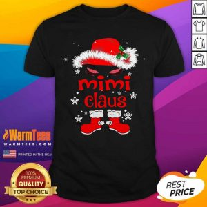 Santa Women Mimi Claus Christmas Shirt - Design By Warmtees.com