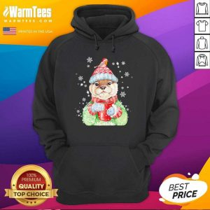 Sea Otter Merry Christmas Hoodie - Design By Warmtees.com